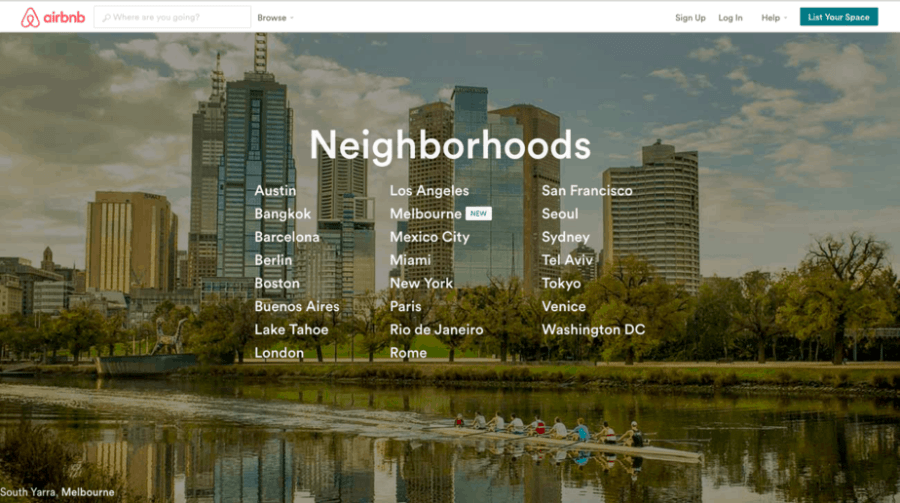 Travel Guide Accommodations: Airbnb Neighborhoods