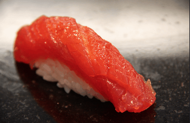 Nigiri means squeezed or grasped rice