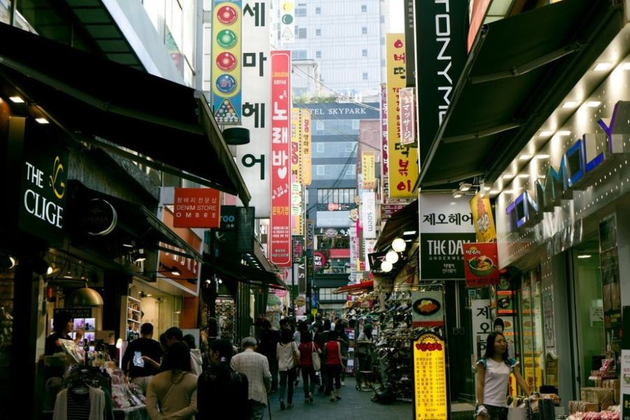 Seoul, South Korea: Shopping in Myeong-dong