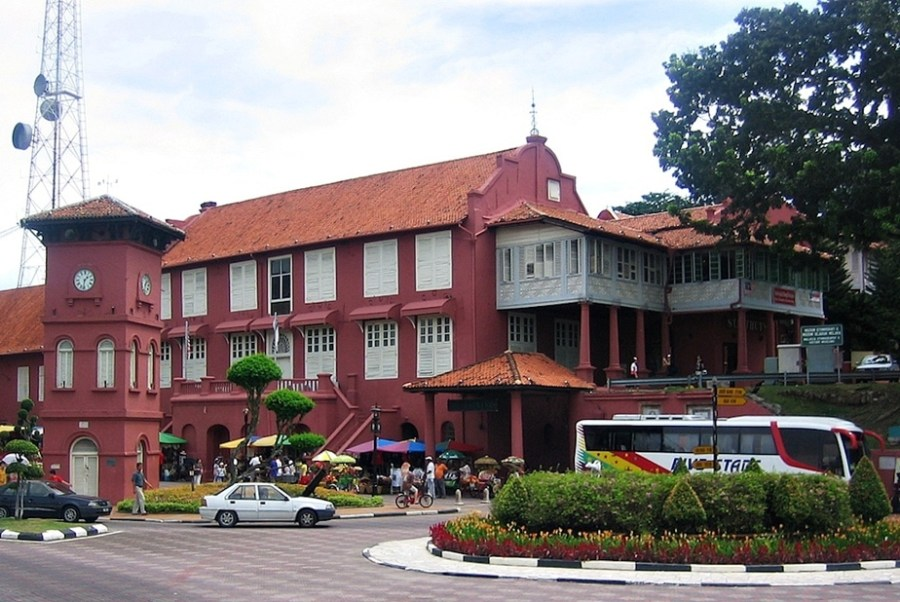 Malacca, Malaysia: The Stadthuys at Dutch Square