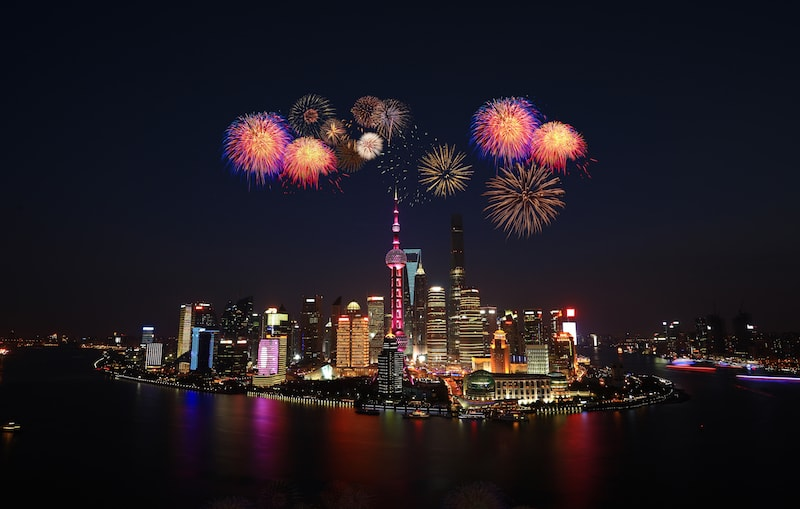 Chinese New Year in Shanghai: Fireworks at The Bund