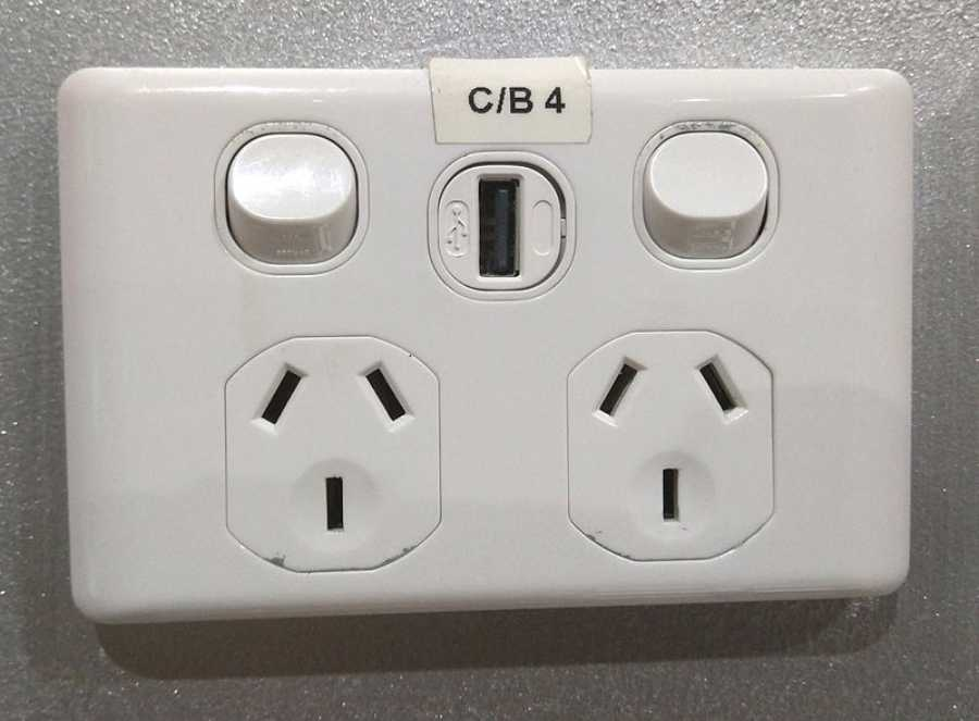 Expect these type of outlets (image via Maksym Kozlenko, Wikimedia Commons)