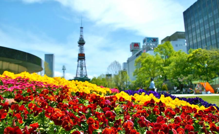 Odori Park: Hokkaido, Japan