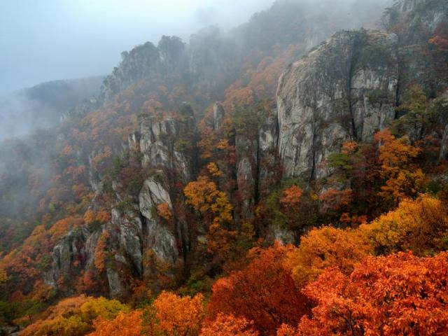 Fall in Korea: Daedunsan National Park