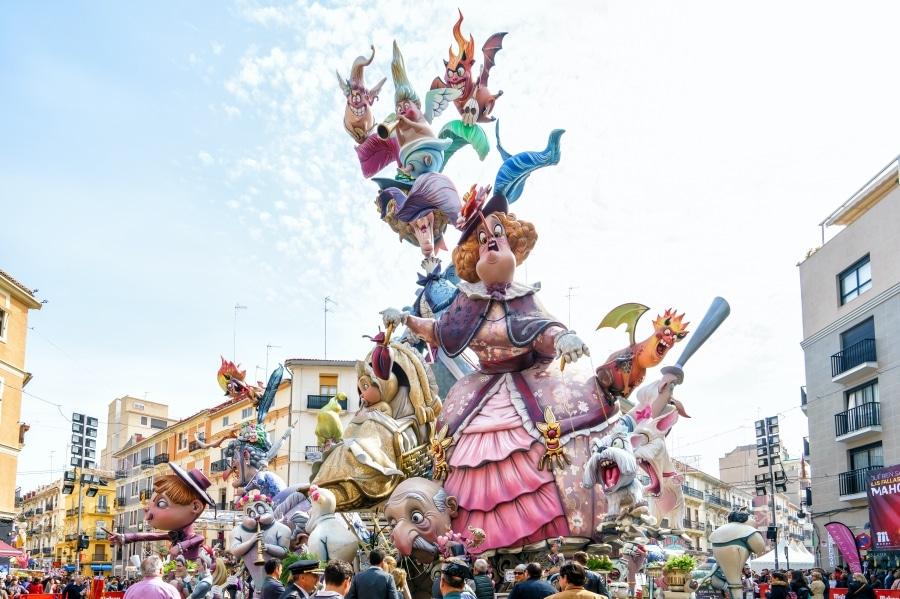 Las Fallas de Valencia in Spain Celebration