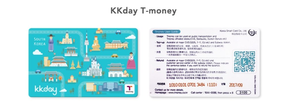 Korea Travel Essentials KKday T-Money Card