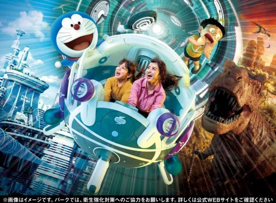 Travel Through Time With Doraemon On Universal Studios Japan's Upcoming VR Roller Coaster Ride