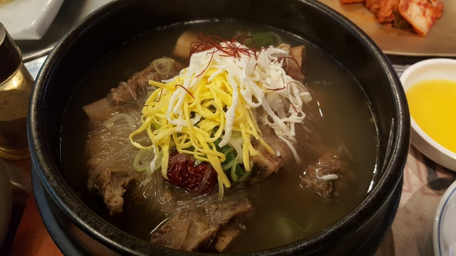 Korean soup and grilled dishes