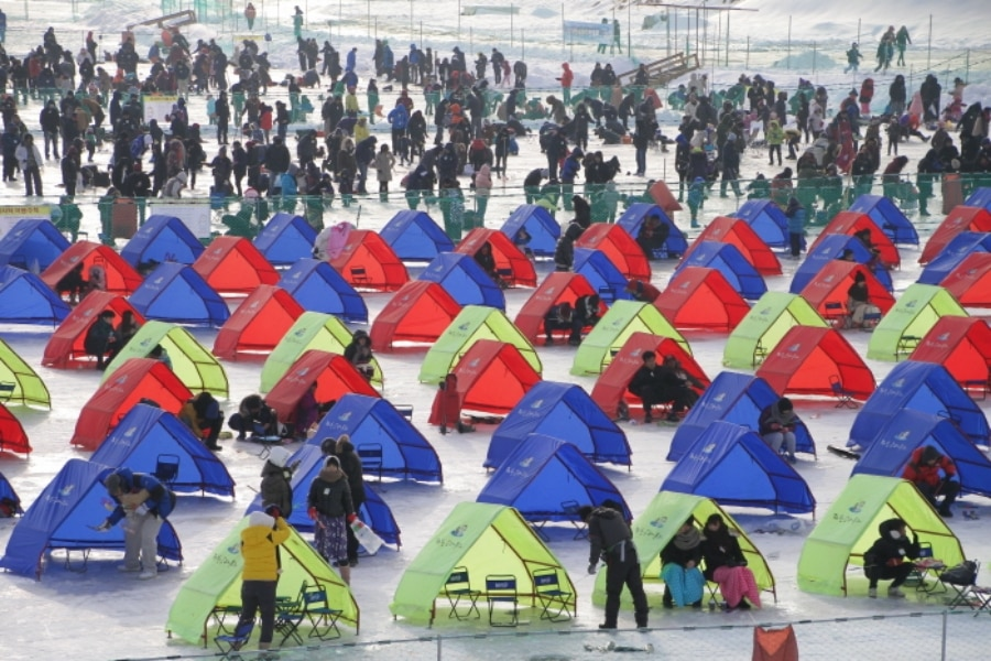Camping for fishing festival