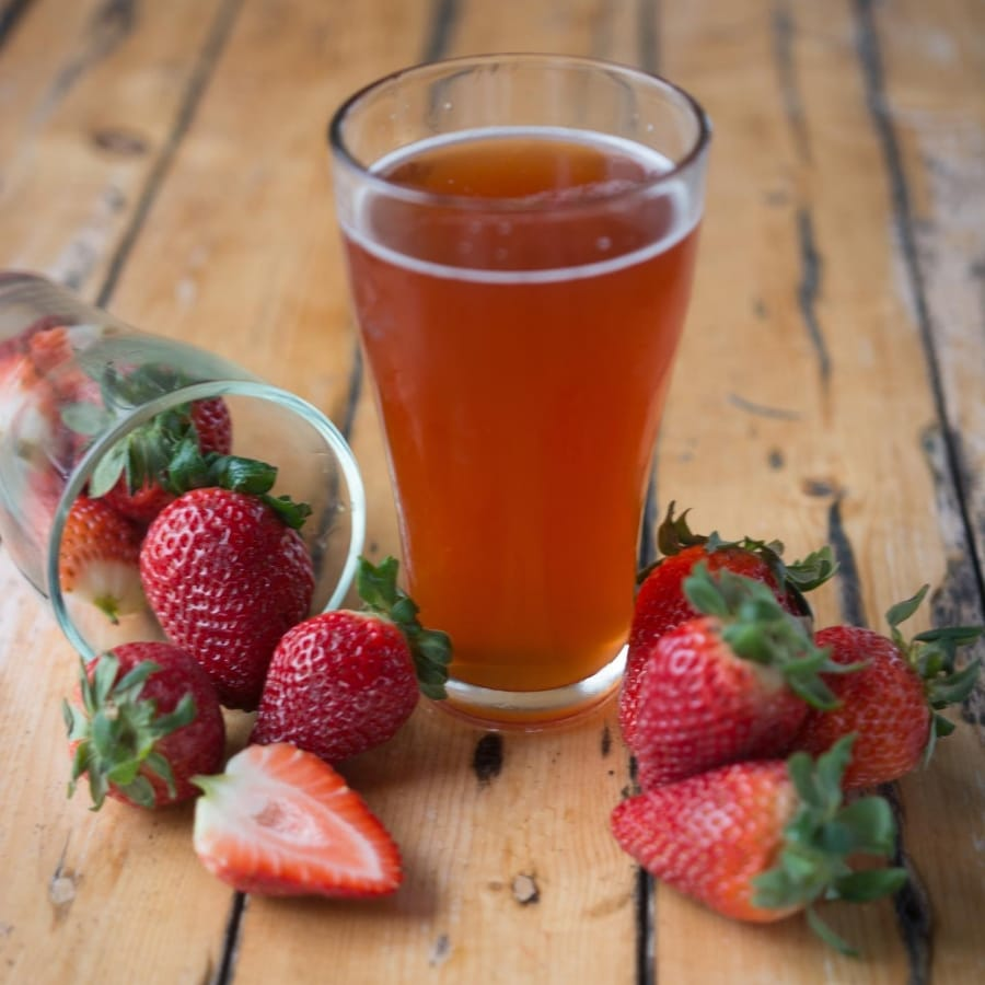 Baguio Craft Brewery Strawberry Beer
