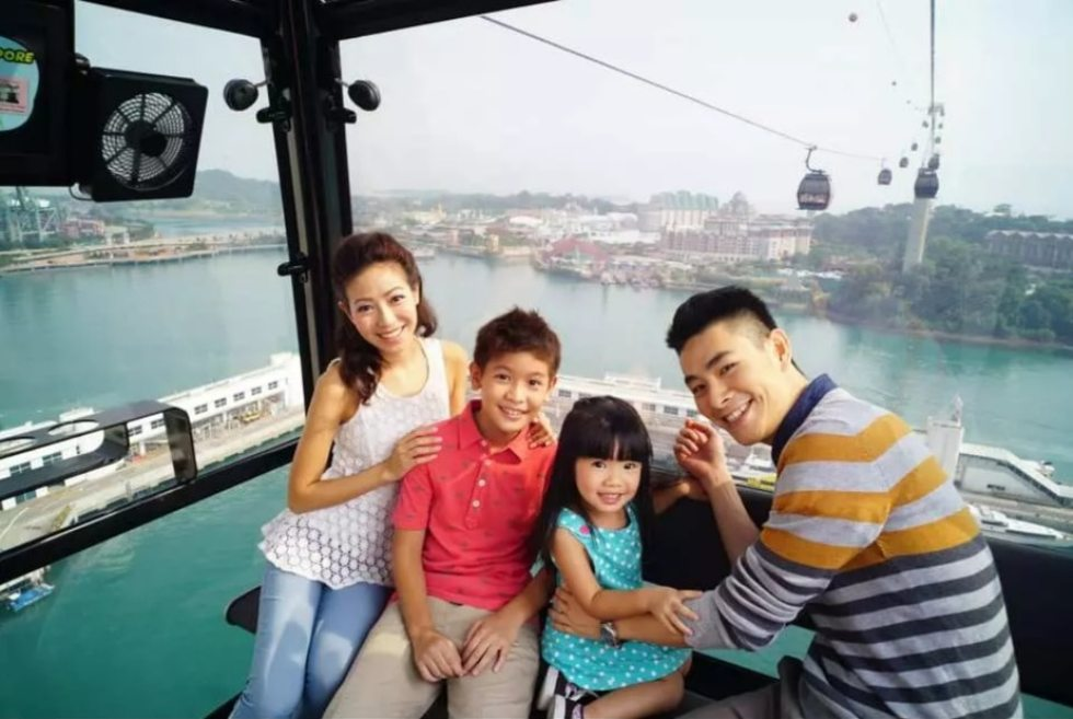 Family Singapore Cable Car Ride Promo