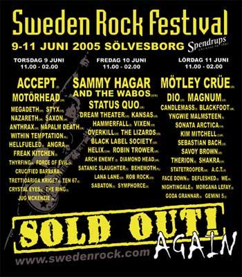 Sweden Rock Festival 2005  09062005 3 days