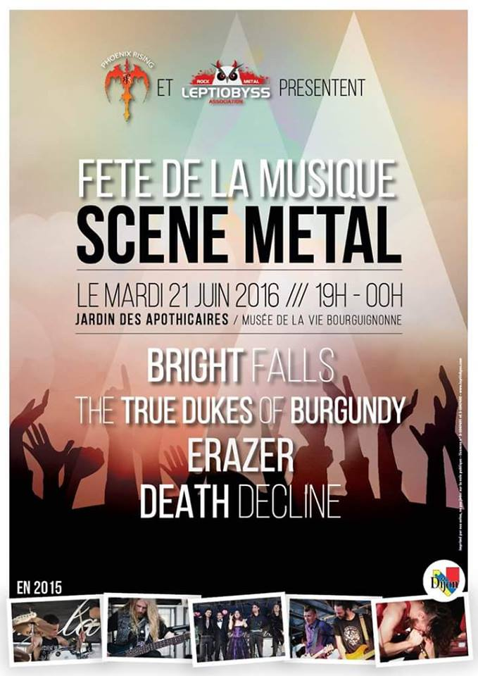 Concert Fete De La Musique 2016 : concert, musique, Fête, Musique, Dijon, 21/06/2016, Bourgogne, France, Concerts-Metal, Calendar