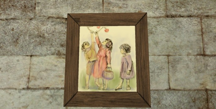 'Playful Children' Painting