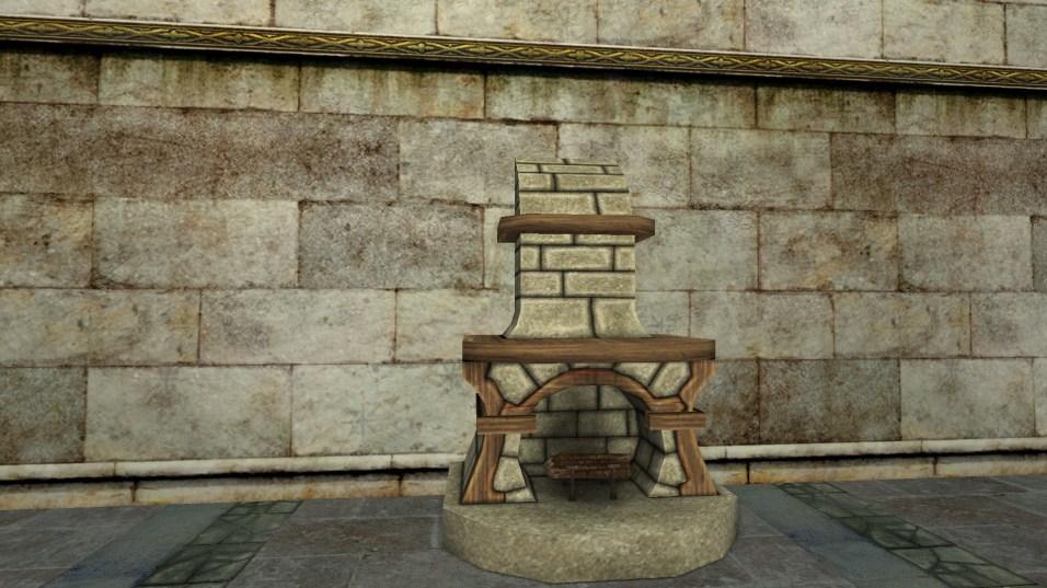 small stone fireplace 1