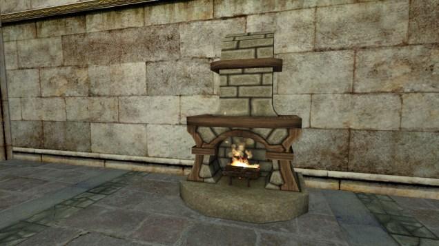 small stone fireplace 2