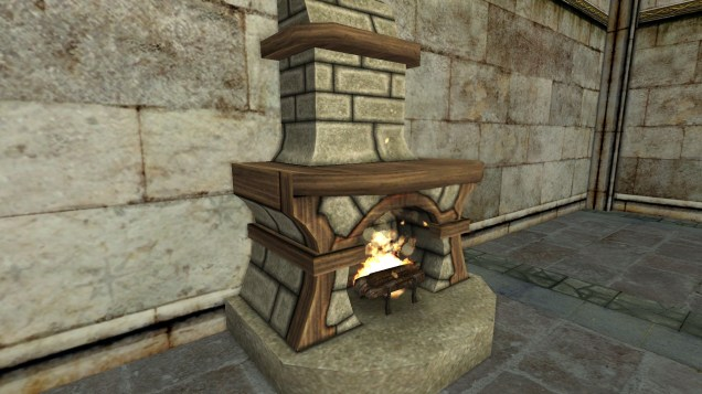 small stone fireplace 3