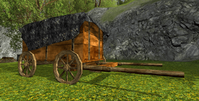 Covered Rohan Wagon