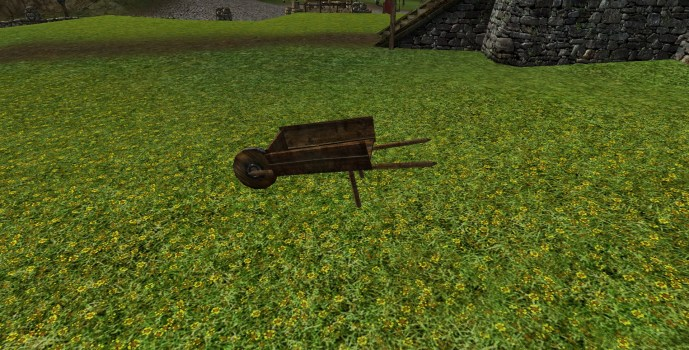 Large Empty Wheelbarrow