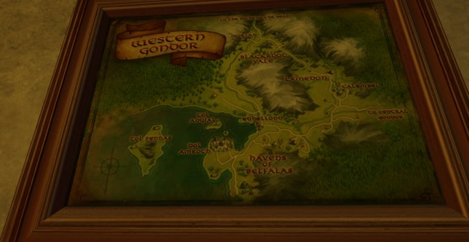 Small Map of Western Gondor