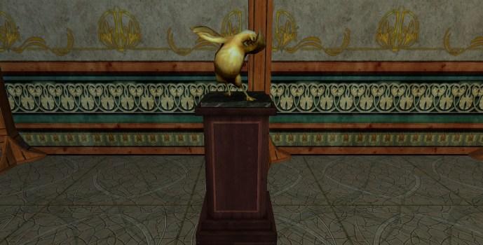Golden Chicken Statue