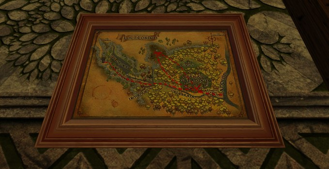Small Map of Bingo in Lothlórien