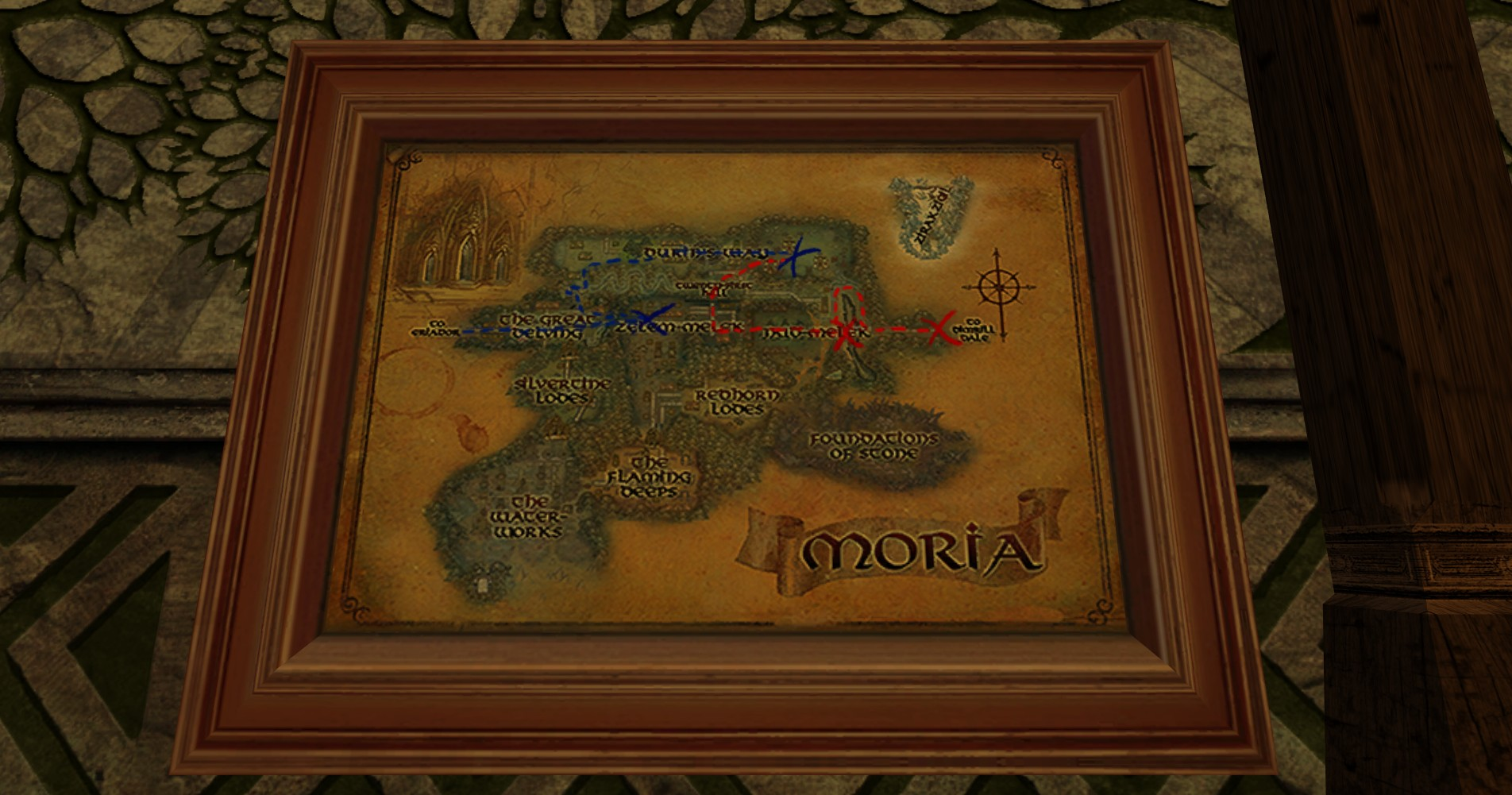 Large Map of Bingo in Moria