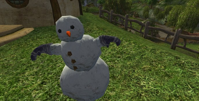 Snowman with Mittens
