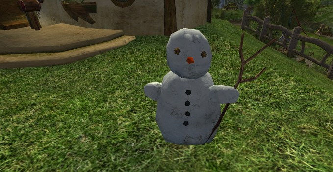 Snowman with a Staff