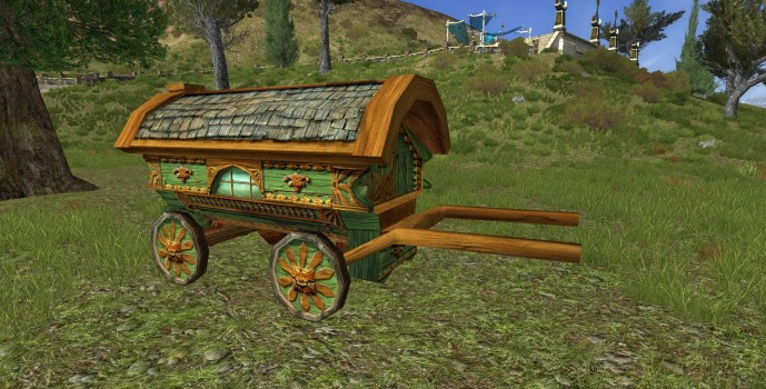 Green Hobbit Waggon