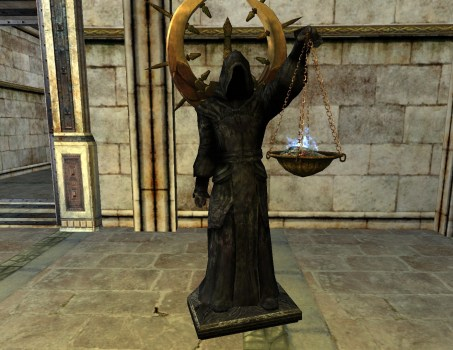 Black Robed Statue – Interior – Left