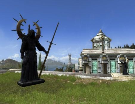 Black Robed Statue – Exterior – Left