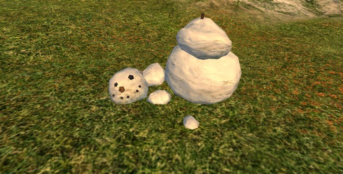 Broken Snowman