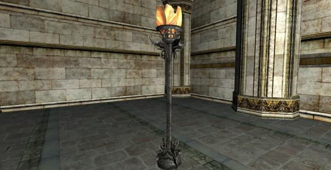 Felegoth Standing Flower Lamp