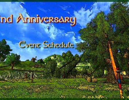 2nd Anniversary : Event Schedule (Updated)