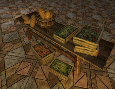 Laden Produce Table