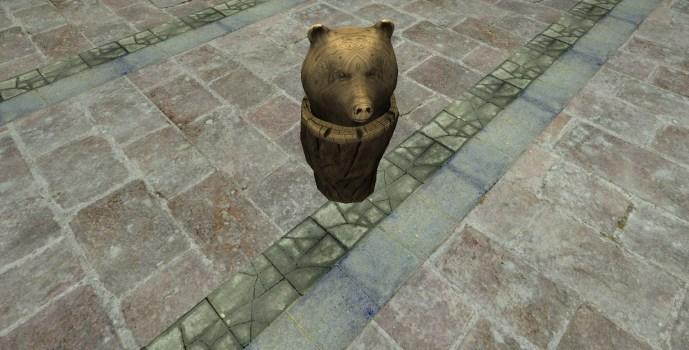 Carved Bear Bust