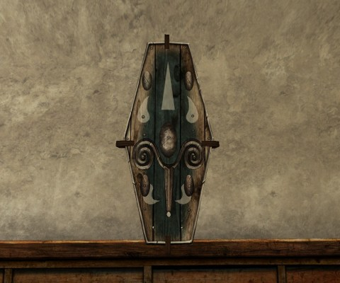 Wall-Mounted Minstrel's Shield of the Vales