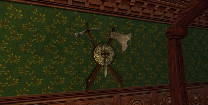 Wall-Mounted Hammer, Knife, and Axe of the Vales