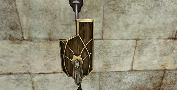 Wall-Mounted Warden's Shield of Minas Ithil