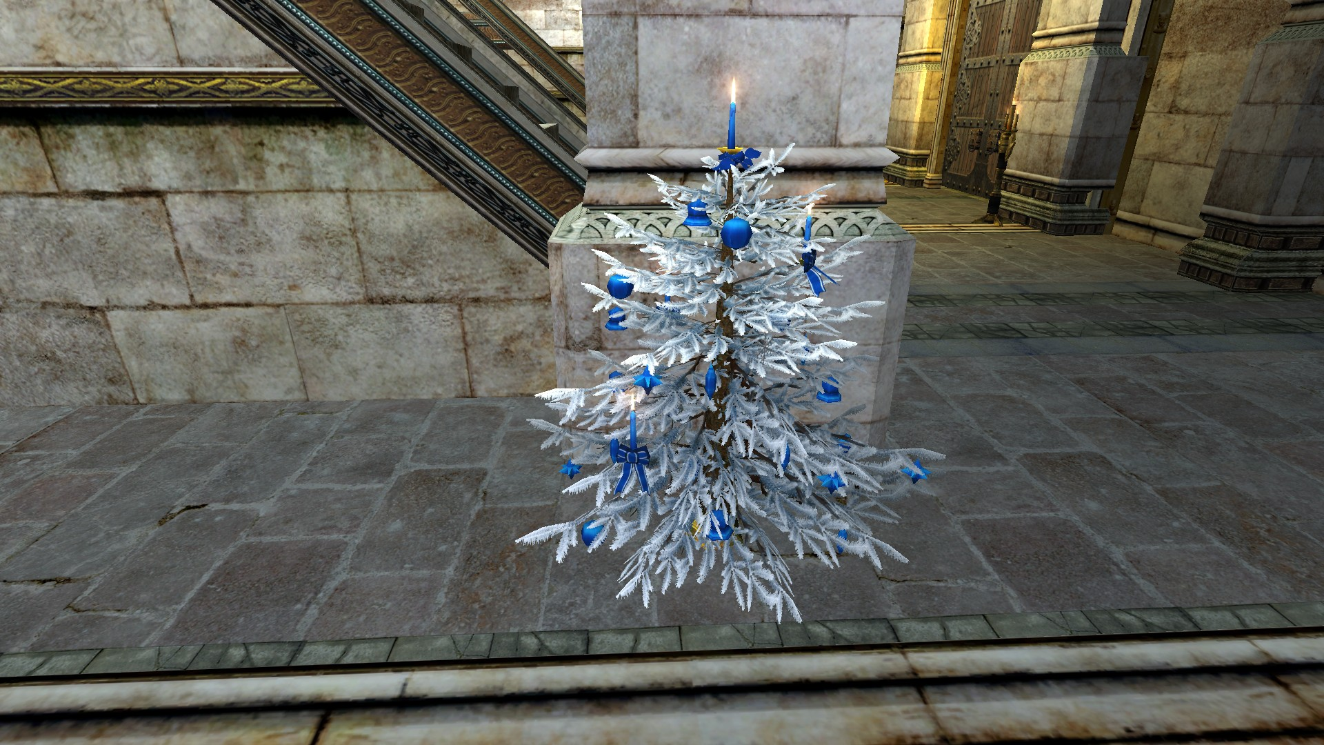 Silver Decorated Yule-Tree