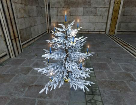 Silver Celebratory Winter Tree