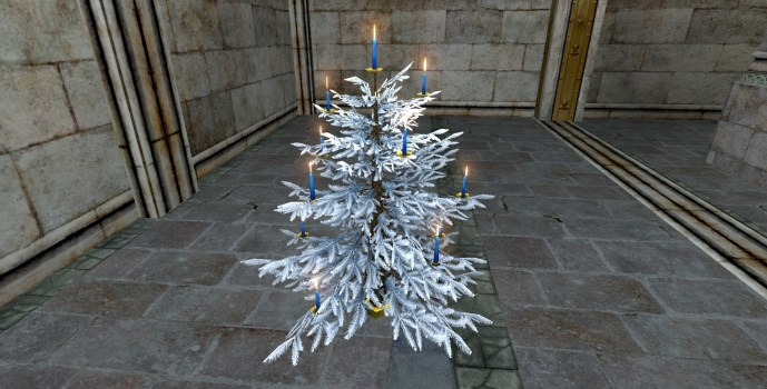 Silver Celebratory Winter Tree