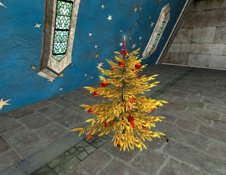 Golden Decorated Yule-Tree