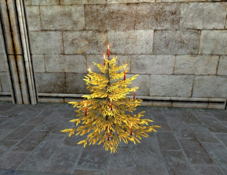 Golden Celebratory Winter Tree