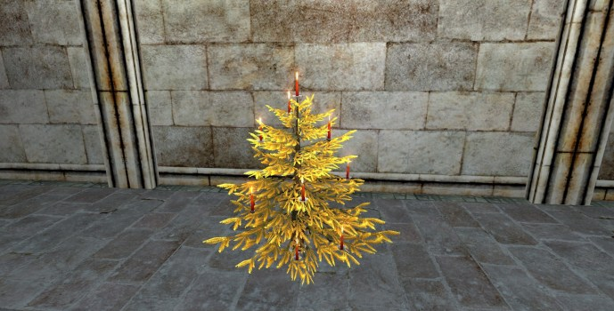 Golden Celebratory Winter Tree