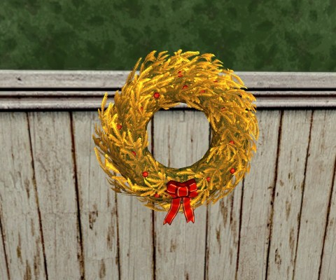 Golden Yule-Wreath