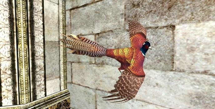 Vivid Pheasant Wall Trophy