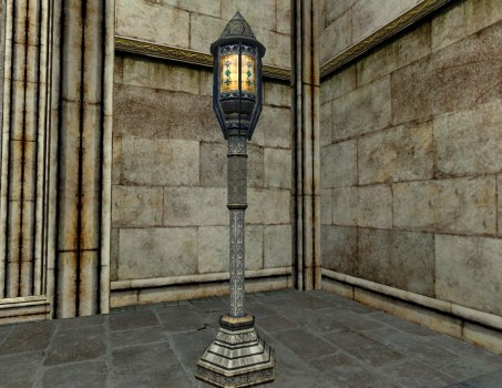 Minas Tirith standing Lantern with Stained Glass