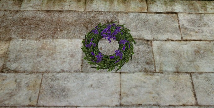 Purple Wedding Wreath